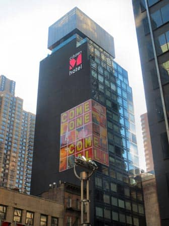 citizenM times square hotel gebouw in new york city