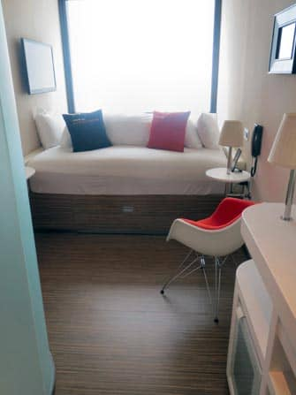 citizenM times square hotel kamer in new york city