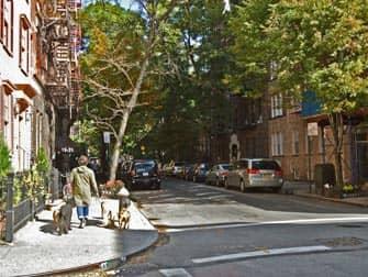 Grove en Bedford in Greenwich Village New York