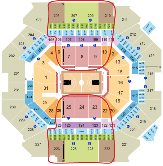 Brooklyn Nets Tickets Kopen - Barclays Center Plattegrond