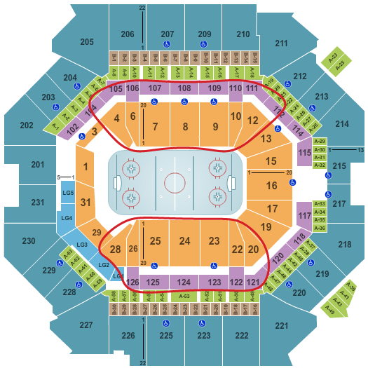 New York Islanders Tickets Kopen - Barclays Center Plattegrond