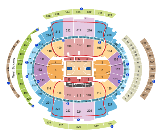 New York Knicks Tickets Kopen - Madison Square Garden Plattegrond