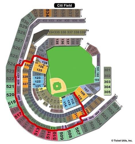 New York Mets Tickets Kopen - Plattegrond Stadion