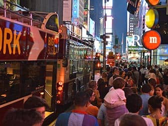 Big Bus New York in de avond