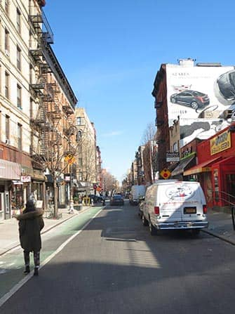 Lower East Side in NYC - straat