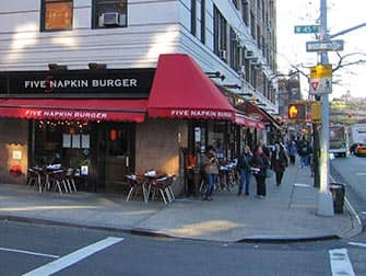 Hells Kitchen in NYC - Five Napkin Burger
