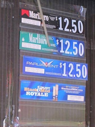 Roken in New York - Prijzen