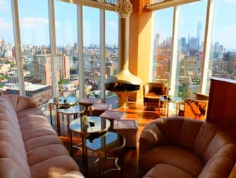 Beste rooftop bars in New York - The Top of the Standard Uitzicht