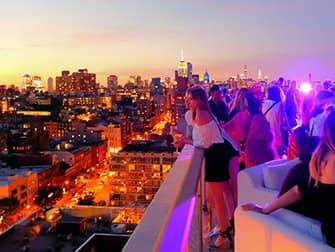 Beste rooftopbars in New York - The Roof Zonsondergang