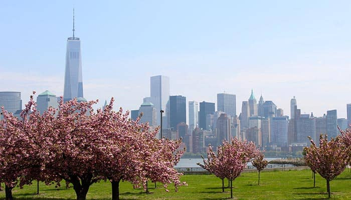 Emprty Sky Memorial in NJ - New York Skyline