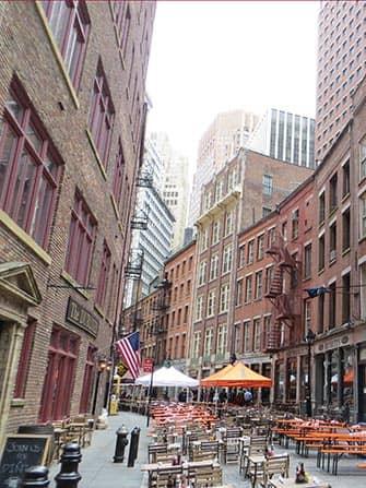 Restaurants op Stone Street in New York - Bars en Restaurants