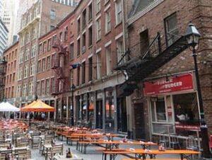 Restaurants op Stone Street in New York