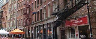 Uit eten gaan op Stone Street in New York