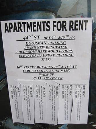 Werken en wonen in New York - appartementen te huur advertentie