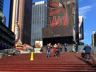 Glee Tour in New York - Trap op Times Square