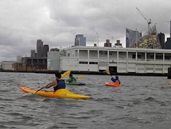 Kayakken in New York - Hudson River