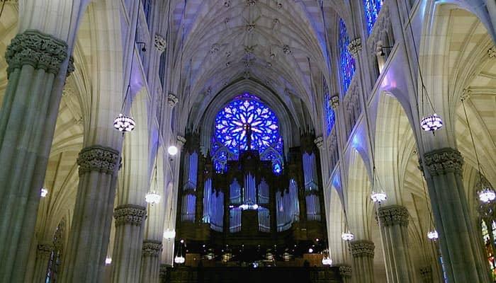 St Patricks Cathedral in New York - Binnenkant