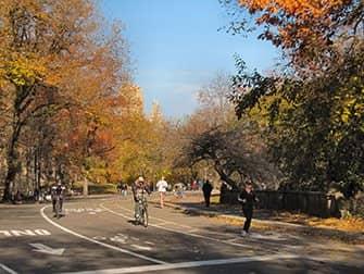 Fietsen huren in New York - Central Park herfst