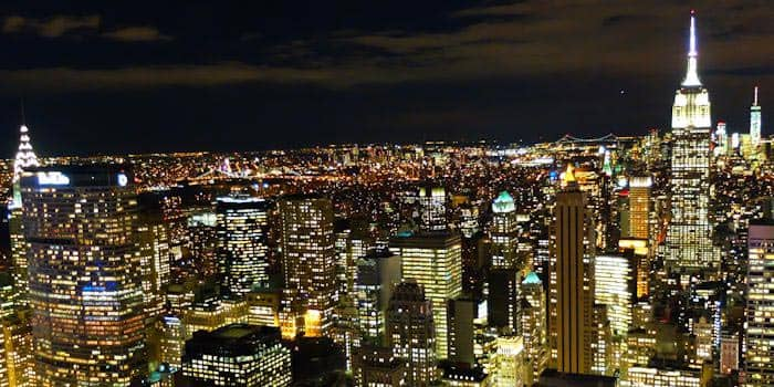 Avondtour in New York - Uitzicht vanaf Top of the Rock
