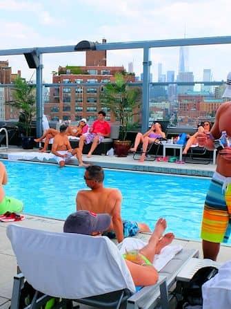 Zwemmen in New York - Royalton Hotel