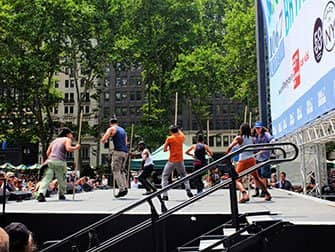 Broadway in Bryant Park - Stomp