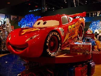 Disney Store op Times Square - Cars