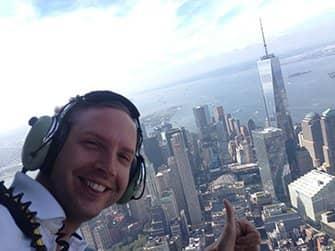 Helikoptervlucht zonder deuren in New York - Selfie