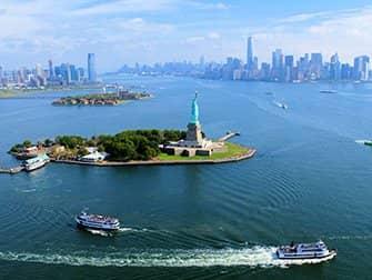 Helikoptervlucht zonder deuren in New York - Vrijheidsbeeld