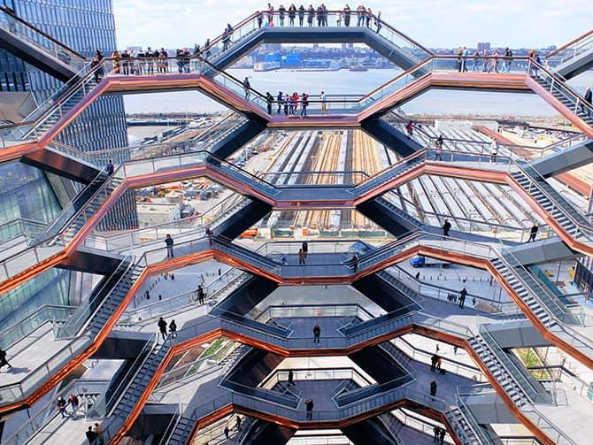 Hudson Yards Vessel in New York - Uitzicht vanaf de Vessel