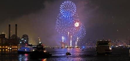 Oudejaarsavond op een boot