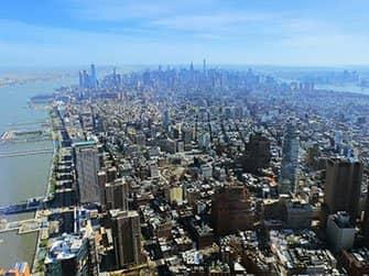 Verschil tussen New York Sightseeing Flex Pass en New York Explorer Pass - Uitzicht One World Observatory
